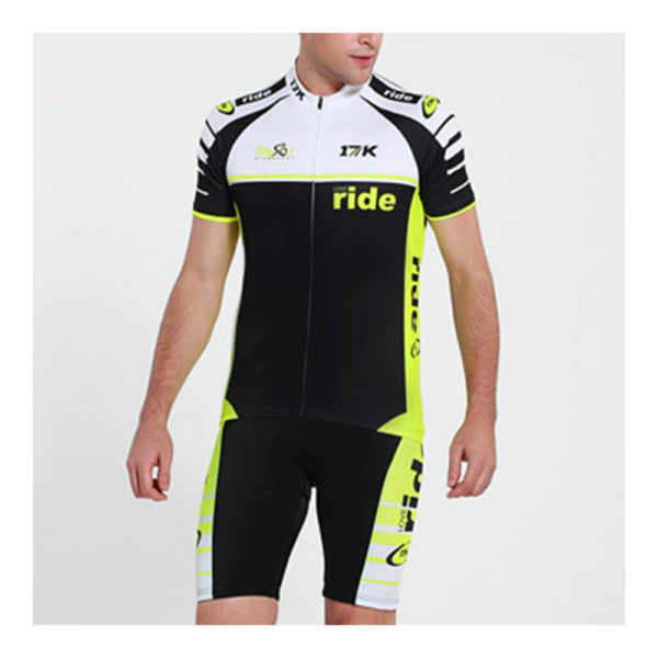 17K GLO Mens Cycling Jersey and Shorts Set
