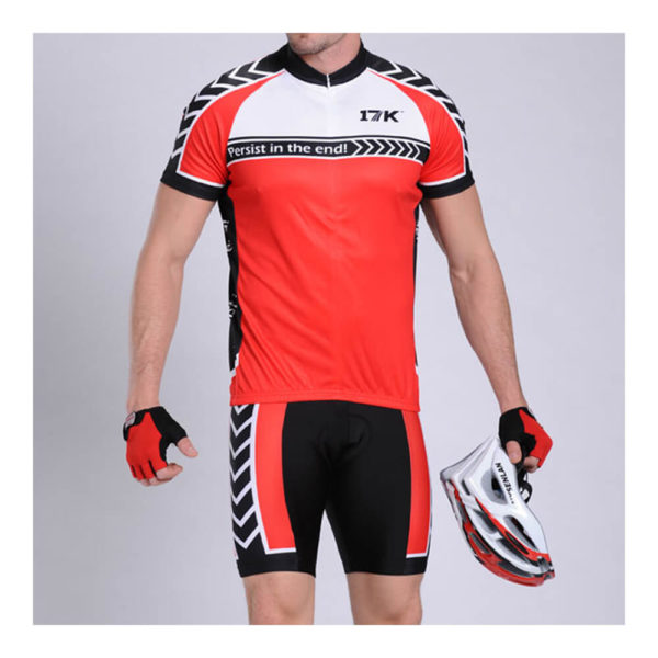 17K Rosso Mens Cycling Jersey and Shorts Set