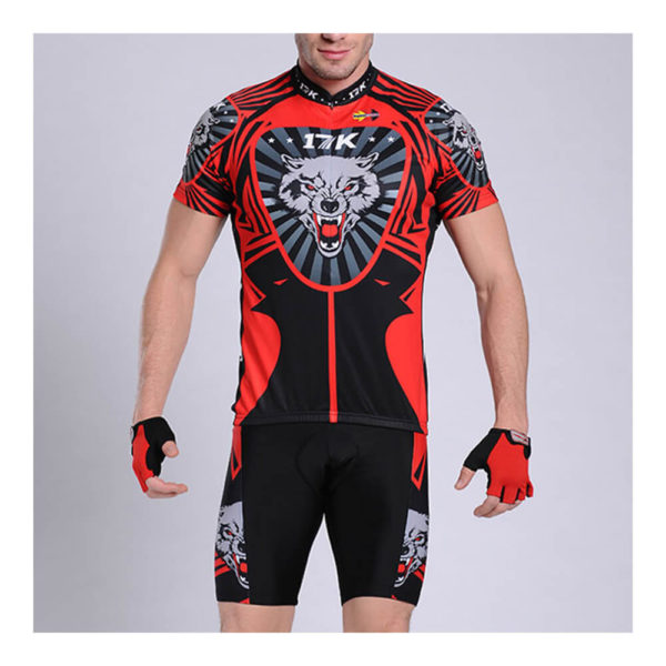 17K Wolf Mens Cycling Jersey and Shorts Set