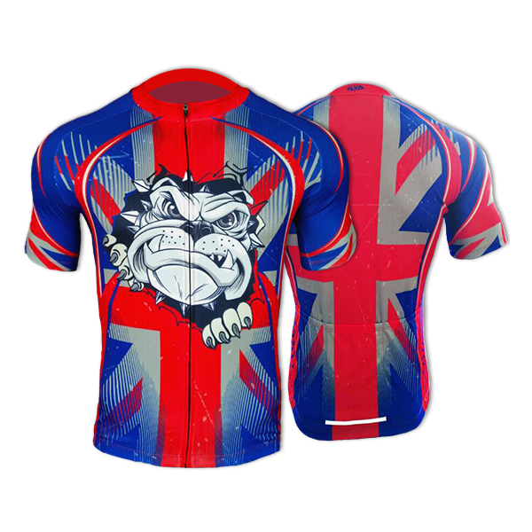 BSK British Bulldog Mens Short Sleeve Cycling Jersey