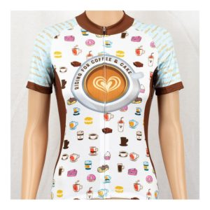Coffee & Cake Womens Short Sleeve Cycling Jersey