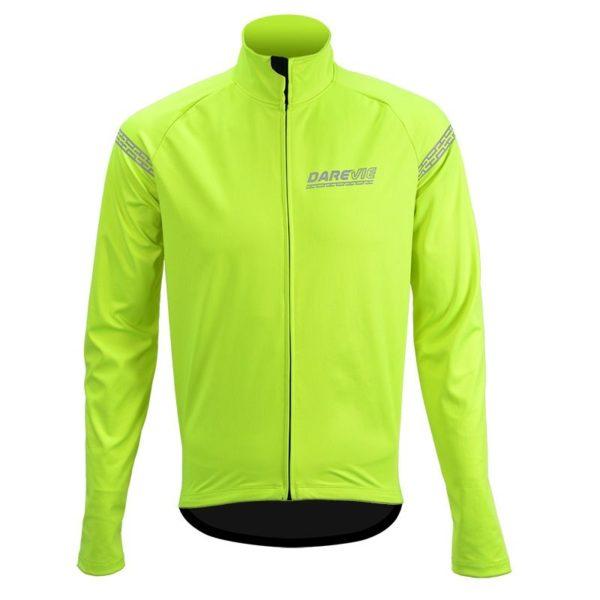 DRV Noir Wind and Water Resistant Cycling Jacket Hi-Viz Neon Yellow