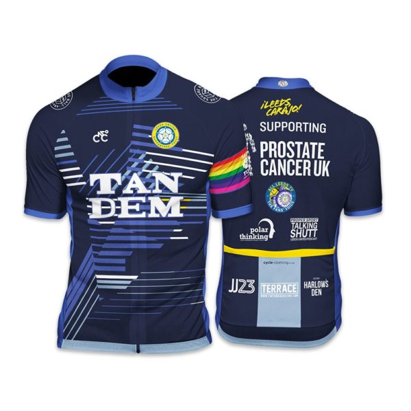 Leeds Prostate Cancer UK 2019 Club Cut Mens Short Sleeve Cycling Jersey