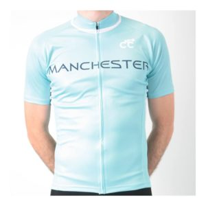 Manchester Blue City Mens Cycling Jersey