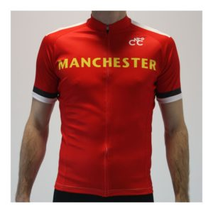 Manchester Red United Mens Cycling Jersey