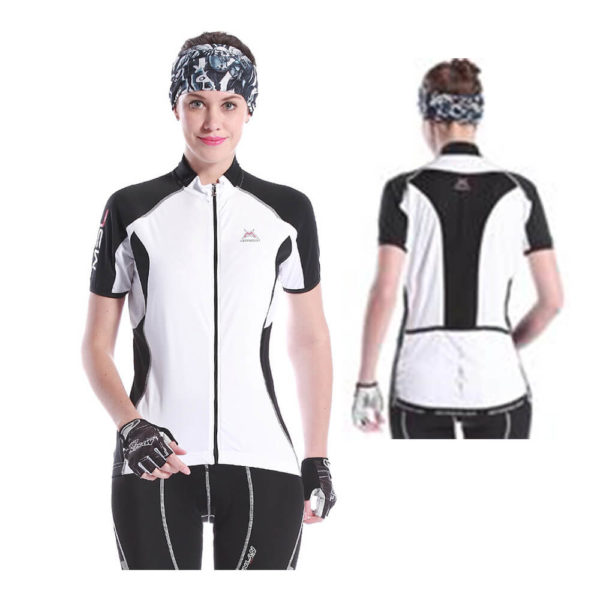 MSY Blanco Womens Short Sleeve Cycling Jersey