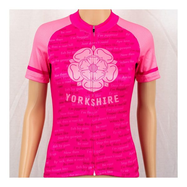 Yorkshire Dialect Womens Short Sleeve Cycling Jersey