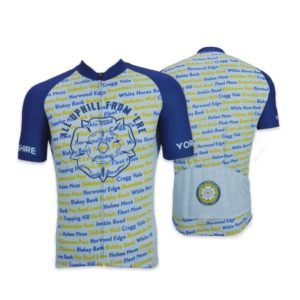 Yorkshire Climbs Mens Short Sleeve Cycling Jersey