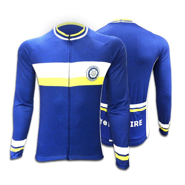 Yorkshire Mens Long Sleeve Cycling Jersey