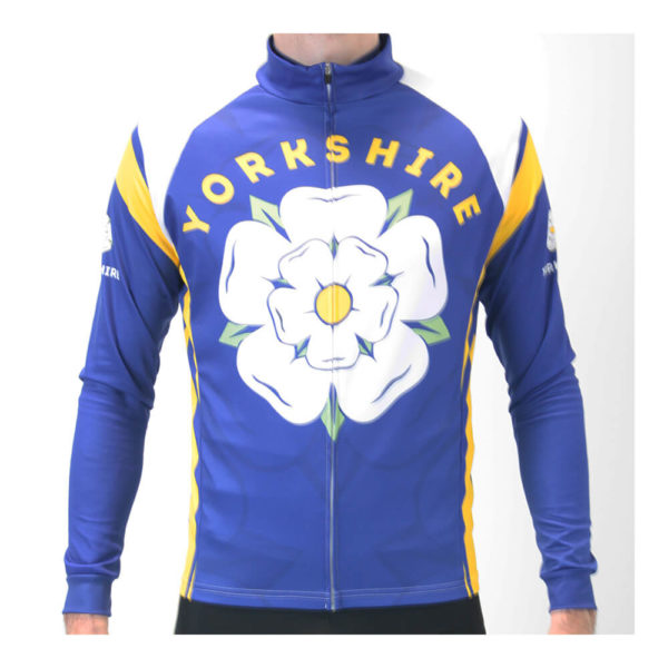Yorkshire Rose Mens Long Sleeve Cycling Jersey