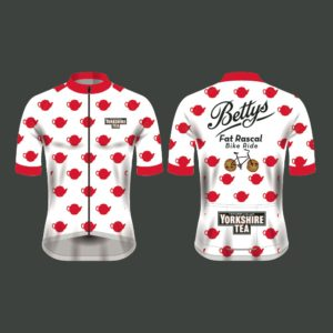Yorkshire Tea Fat Rascal Bike Ride Mens Short Sleeve Cycling Jersey
