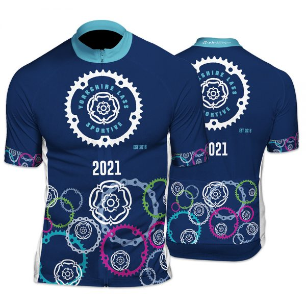Yorkshiree Lass Sportive Unisex Short Sleeve Cycling Jersey
