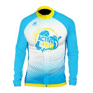 Active Filey Mens Long Sleeve Cycling Jersey
