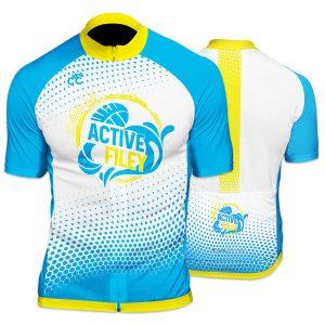 Active Filey Mens Short Sleeve Cycling Jersey