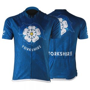 New Map of Yorkshire Mens Short Sleeve Cycling Jersey