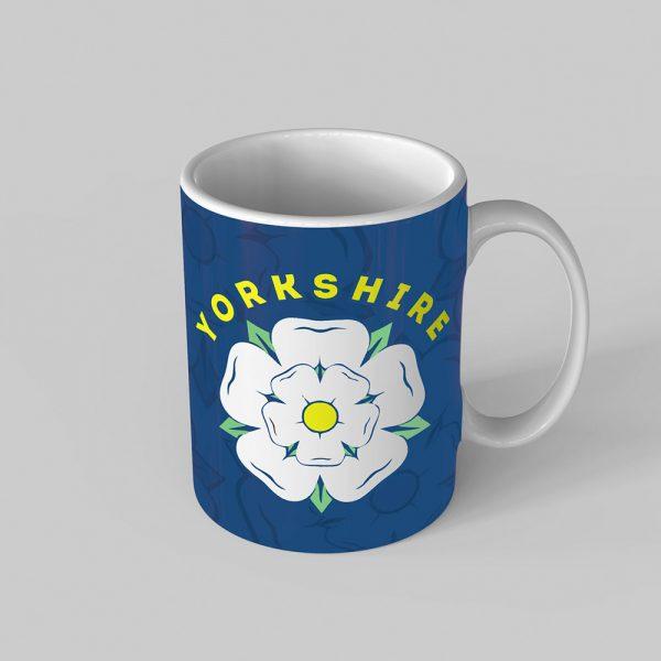 Yorkshire Rose Blue Mug