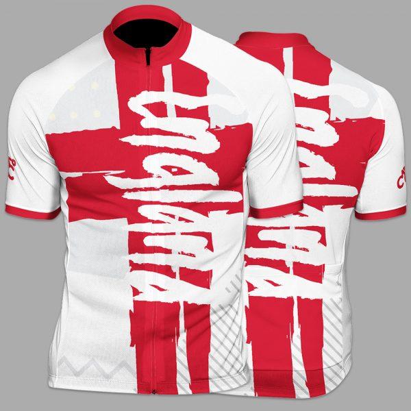 England Funk Mens Short Sleeve Cycling Jersey