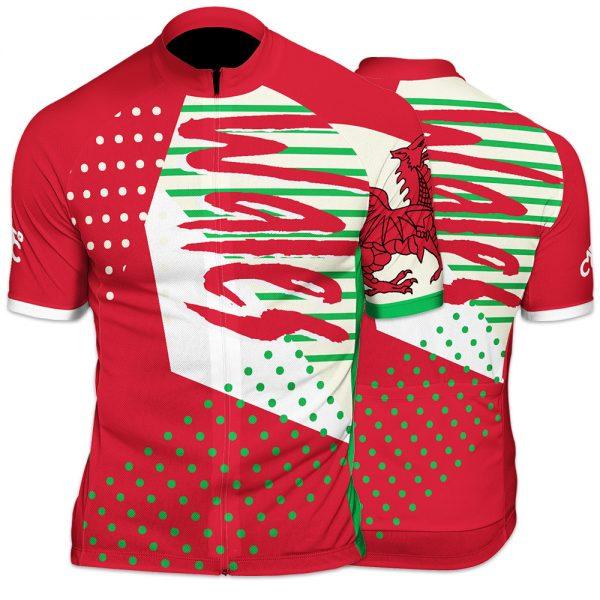 Wales Funk Mens Short Sleeve Cycling Jersey