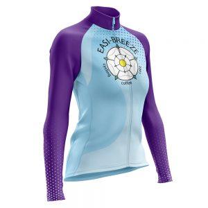 Easi-Breeze CC Ladies Long Sleeve Cycling Jersey Fleece Lined