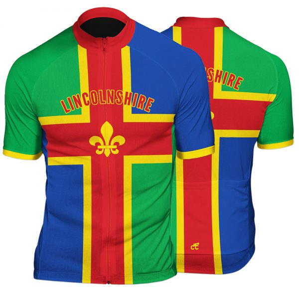 Lincolnshire County Mens Short Sleeve Cycling Jersey