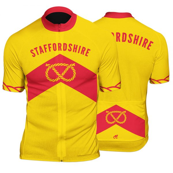 Staffordshire County Mens Short Sleeve Cycling Jersey