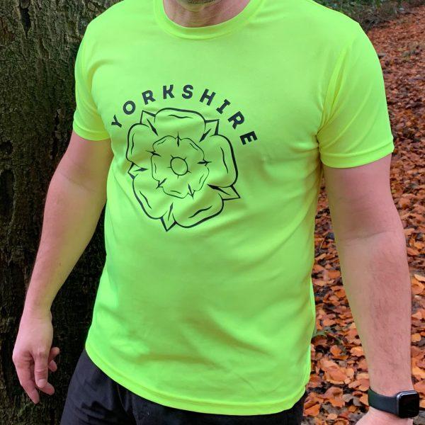 Yorkshire rose technical t-shirt