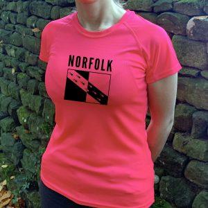 Norfolk County Womens Technical Running T-shirt