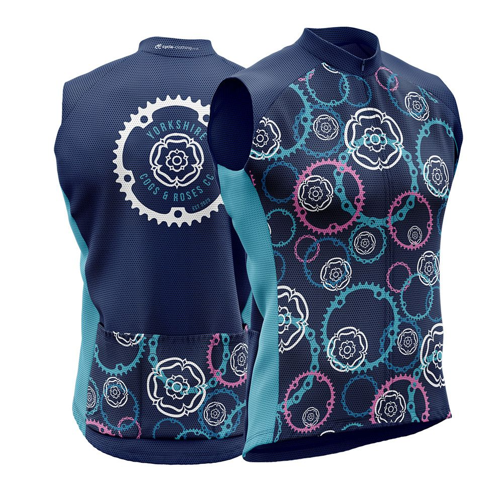 Yorkshire Cogs and Roses CC Unisex Cycling Gilet