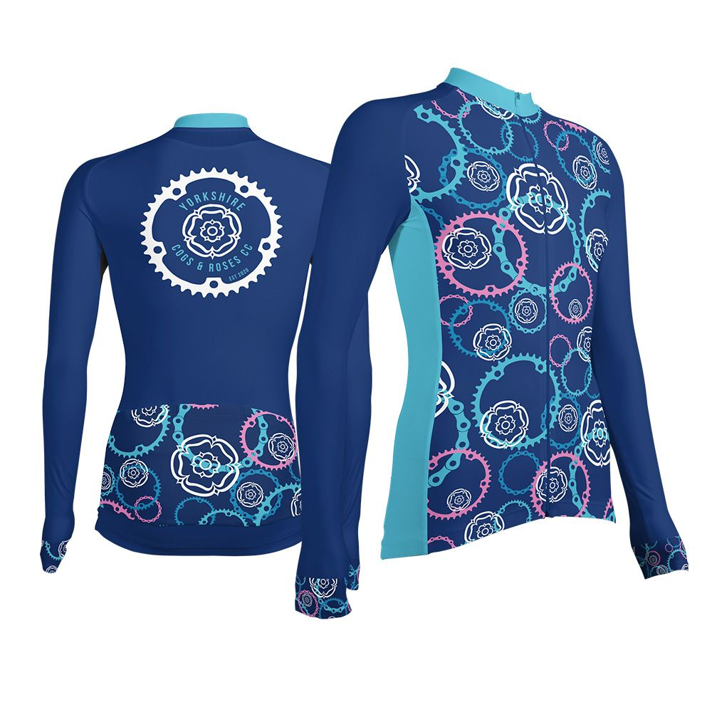 Yorkshire Cogs and Roses CC Unisex Long Sleeve Cycling Jersey
