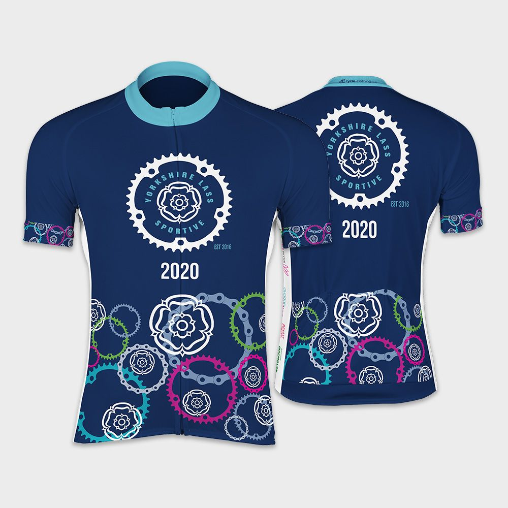 Yorkshire Lass Womens Sportive Short Sleeve Cycling Jersey
